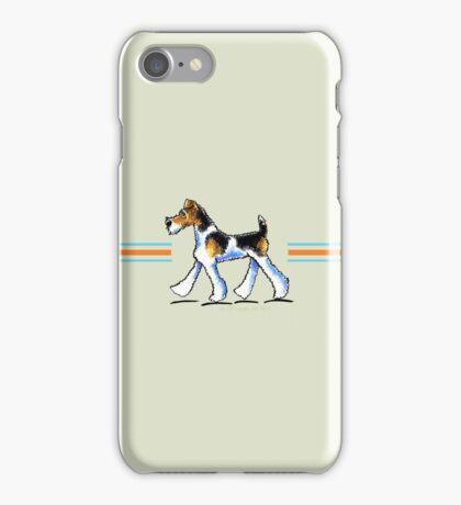 Wire Fox Terrier Trot iPhone Case/Skin
