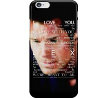 Mark Sloan - I Love You iPhone Case/Skin