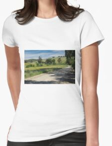 Rural Scene Womens Fitted T-Shirt