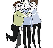 Jim Kirk Spock and Bones WE LOVE YOU MR SPOCK! by livielightyear