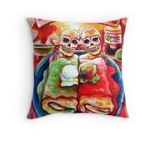 Dos Amigos, Dos Burritos,  Throw Pillow