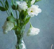 White Lisianthus and Grapes Sticker
