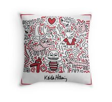 Keith Haring -Animals- Throw Pillow