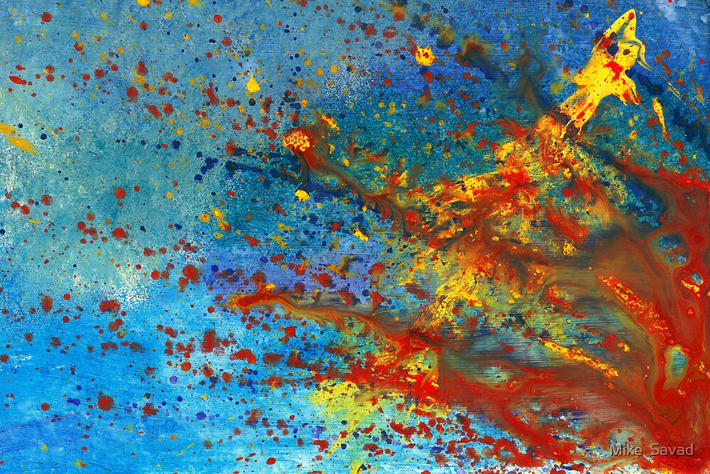Abstract - Acrylic - Just another Monday by Mike  Savad