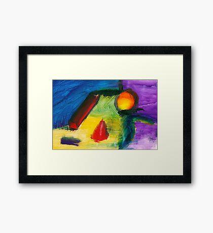 Abstract - Acrylic - Primitives Framed Print
