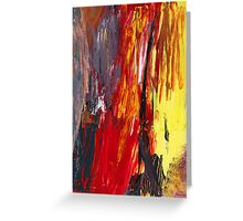Abstract - Acrylic - Rising power Greeting Card