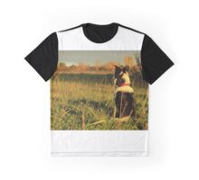 Autumn Collie Dog Graphic T-Shirt