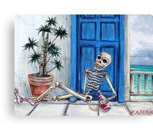 El Borracho de la Playa Canvas Print