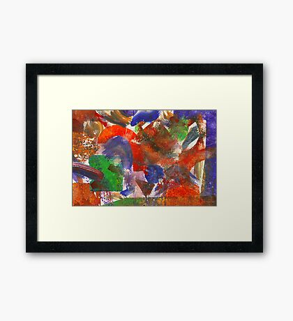 Abstract - Acrylic - Synthesis Framed Print