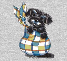Miniature Schnauzer Sack Puppy One Piece - Short Sleeve