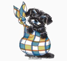 Miniature Schnauzer Sack Puppy by offleashart