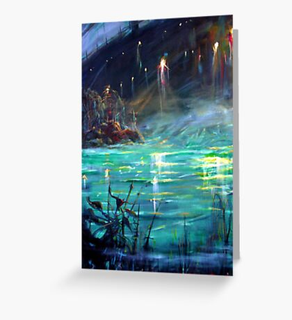 Ghost Ship Left Greeting Card