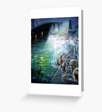 Ghost Ship Center Greeting Card