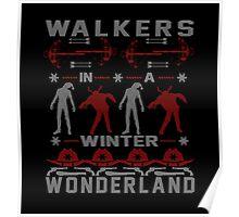 Walkers in a Winter Wonderland Poster