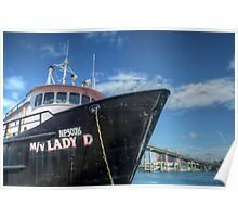 """Lady D"" docked at Potter's Cay in Nassau, The Bahamas Poster"