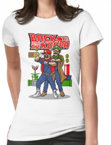 Back To Fight The Koopa Womens Fitted T-Shirt