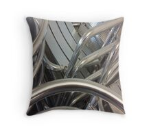 Stacked sheen Throw Pillow