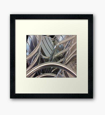 Stacked sheen Framed Print
