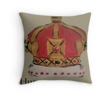 See me in a crown Throw Pillow