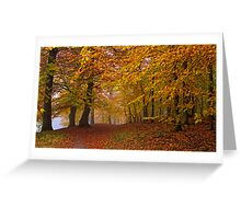 Golden Ceiling Greeting Card