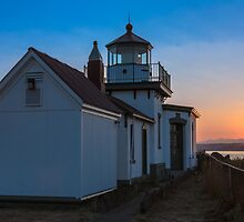 West Point Lighthouse Discovery Park by Jim Stiles
