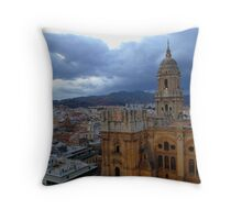 Malaga Cathedral Before Sunset Throw Pillow