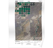 USGS Topo Map Washington State WA Welland 20110404 TM Poster