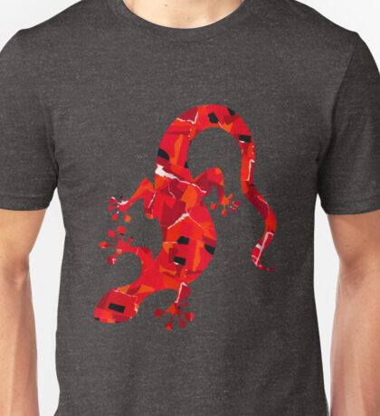 Red Lizard Collage T-Shirt