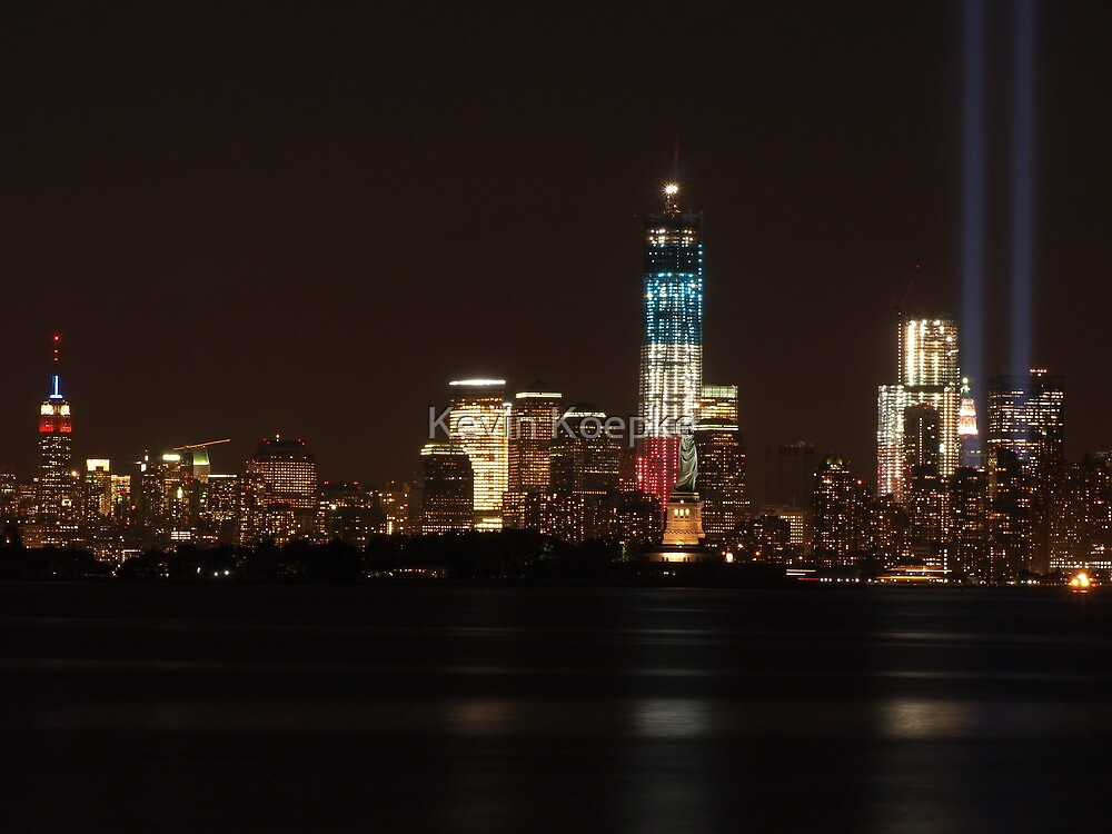 New York City/Tribute In Light; 9/11/2012 by Kevin Koepke