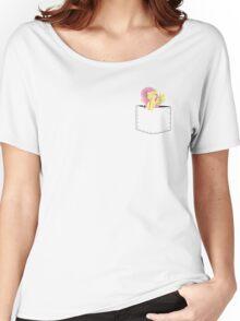 Pocket Flutter Shy Women's Relaxed Fit T-Shirt