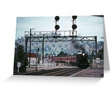 Excursion train coming into Wodonga Railway station 19810300 0006 Greeting Card