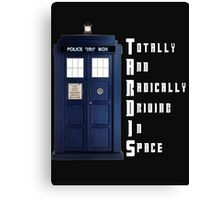 The Real Meaning of TARDIS Canvas Print