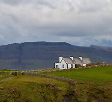 Cottage on the cliff top Mullaghmore Ireland by Pauline Tims