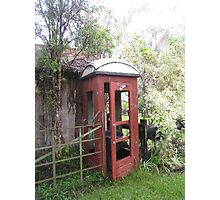 Old Red Telephone Box Photographic Print