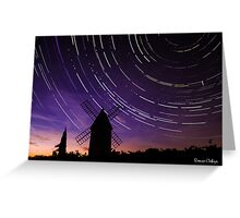 Star trails & Wind Mill Greeting Card