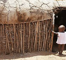 Massai Village Hut by roger smith