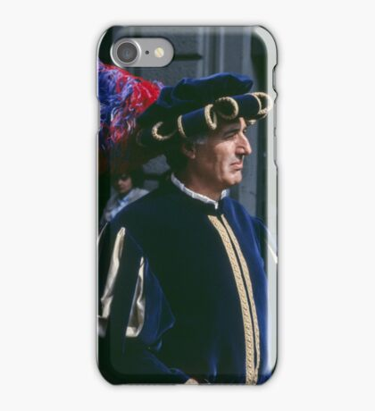 Gentleman, C16 costume Parade Florence Italy 19840708 0033  iPhone Case/Skin