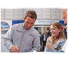 Ben Ainslie autograph signing at the PSP Southampton boat show 2012 Poster