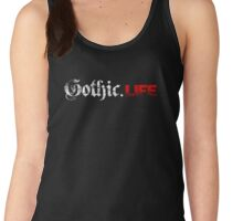 Gothic.Life Logo (White & Red) Women's Tank Top