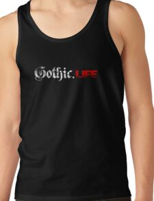 Gothic.Life Logo (White & Red) T-Shirt