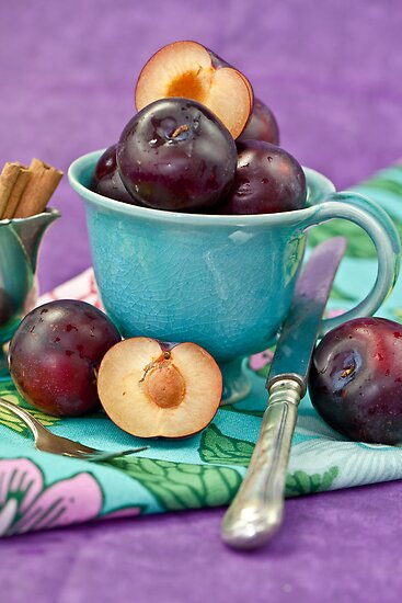 Purple Plums by Barbara Neveu