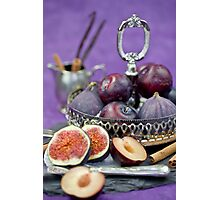 Figs & Plums Photographic Print