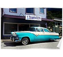 Temptations - 1955 Ford Crown Victoria Poster