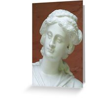 Statue of a Lady with a Spider in her Ear Greeting Card