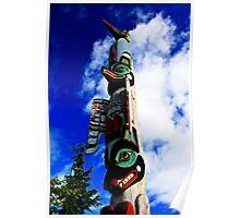 Native Totem Pole In Ketchikan, Alaska Poster