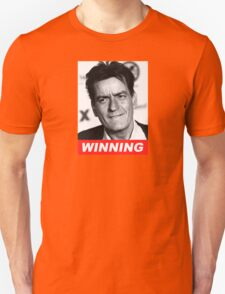 Charlie Seen x WINNING! (Official RED Italic Style Text) T-Shirt