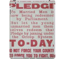 The prime ministers pledge to married men is now being redeemed by parliament 335 iPad Case/Skin