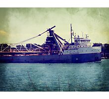 Great Lakes Freighter Photographic Print