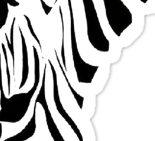 Grazing Zebra Sticker