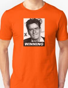 Charlie Seen x WINNING! (Official BLACK Italic Style Text) T-Shirt